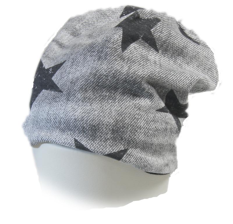 dětská čepice šedá s hvězdami eb8db30c7c